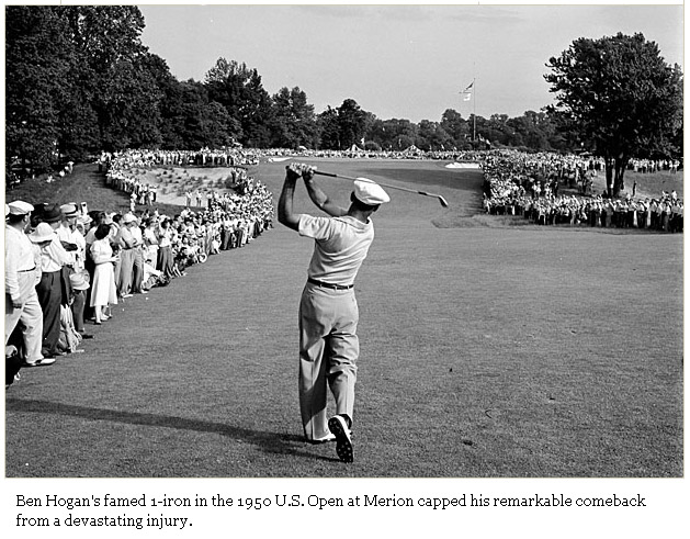 1950 US Open at Merion 1-iron